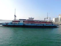 Traghetto Mombasa alla costa africana orientale Immagine Stock