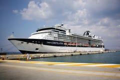 Traghetto nel porto Fotografia Stock