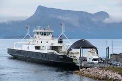 Traghetto in Norvegia Immagini Stock Libere da Diritti