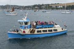 Traghetto in pieno dei passeggeri Fotografie Stock