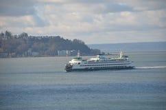 Traghetto in Puget Sound, Washington State Fotografia Stock