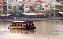 Traghetto in quay della barca Fotografia Stock