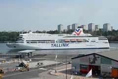 Traghetto Romantika di Tallink a Stoccolma Svezia Fotografia Stock