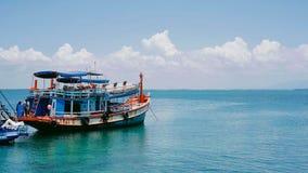Traghetto, Serene Ocean, orizzonte Fotografia Stock Libera da Diritti