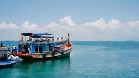 Traghetto, Serene Ocean, orizzonte Fotografie Stock