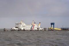 Traghetto su Amrum Immagine Stock Libera da Diritti