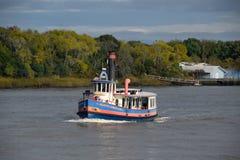 Traghetto su Savannah River Fotografia Stock Libera da Diritti