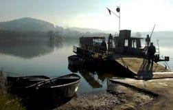 Traghetto sul fiume Immagine Stock Libera da Diritti