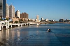 Traghetto sul fiume di Brisbane Immagini Stock Libere da Diritti
