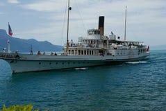 Traghetto sul lago Lemano Fotografia Stock