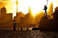 Traghetto virile al tramonto Fotografia Stock Libera da Diritti