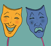 Tragic comedy masks Royalty Free Stock Photos