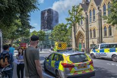 The Tragic Fire At The Grenfell Tower Block In North Kensington, Royalty Free Stock Photos