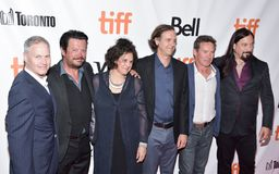 The Tragically Hip, producers & directors at premiere of documentary `Long Time Running` at toronto international film festival. `Long Time Running` premiere at Stock Photo