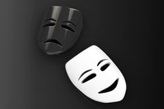 Tragicomic Theater Masks. Sad and Smile masks Royalty Free Stock Photos