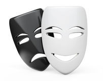 Tragicomic Theater Masks. Sad and Smile masks Royalty Free Stock Images