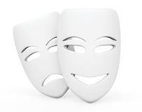 Tragicomic Theater Masks. Sad and Smile masks Royalty Free Stock Photography