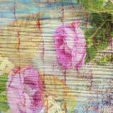 Tragicznego przestępstwa dramatyczna krwista historia miłosna z dzikimi różami i jesień liśćmi Kolaż w rocznika stylu Obraz Stock
