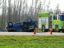 tragiczny wypadek samochodowy Fotografia Stock