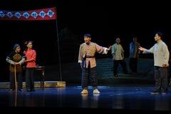 Tragisk aktionanförandeJiangxi opera en besman Royaltyfri Fotografi