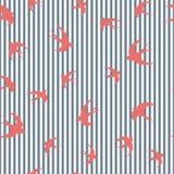 Tragos del rojo en rayas azules stock de ilustración