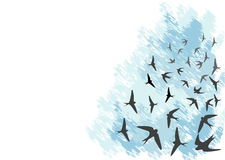 Tragos que vuelan stock de ilustración