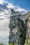 Trague el símbolo del castillo de la jerarquía del ` s de Crimea Foto de archivo libre de regalías