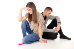 Trahison entre un homme et une femme Photos stock