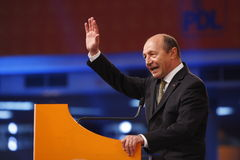 Traian Basescu Holding a Speach Royalty Free Stock Photo
