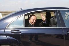 Traian Basescu Präsident von Rumänien lizenzfreie stockbilder