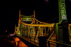 Traian Bridge Arad, foto da noite de Romênia Imagens de Stock