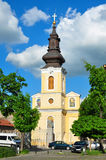 Traian square church Royalty Free Stock Photography