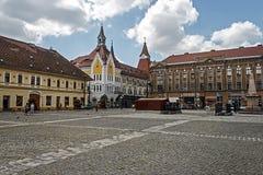 Traian Square in Timisoara, Romania Stock Image