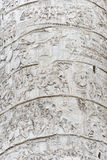 Traiano Trajan column in Rome. Traiano Marble Trajan column in Rome stock images