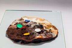 Traiga el arándano adobado en un tarro de cristal fotografía de archivo