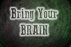 Traiga a su Brain Concept Foto de archivo libre de regalías