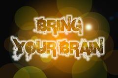 Traiga a su Brain Concept Imagen de archivo libre de regalías