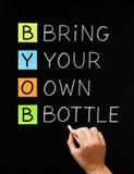 Traiga su propia botella Imagen de archivo