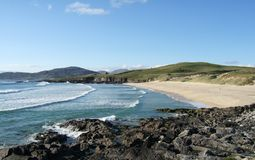 Traigh Iar beach on Isle of Harris, Scotland Royalty Free Stock Images