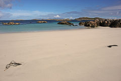 Traigh Tuath, île de Coll Photographie stock libre de droits