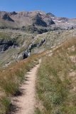 Trail. A trail in the mountains of the Ecrins, France Royalty Free Stock Photography