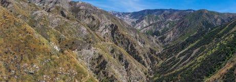 Trail Above Deep Canyon Stock Photos