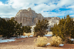 Trail Across White Cliffs of New Mexico stock images