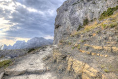 Trail along the hillside. HDR Stock Images