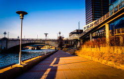 Trail along the Schuylkill River in Philadelphia, Pennsylvania. Royalty Free Stock Photography