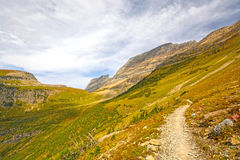Trail into an Alpine Valley in Fall Stock Images