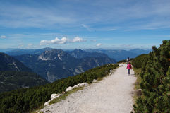 Trail in Alps, Austria Stock Photography