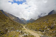 Trail in the Andes Royalty Free Stock Photography