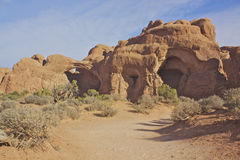 Trail Approaching Double Arch Stock Image
