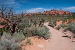 Trail in Arches Stock Images